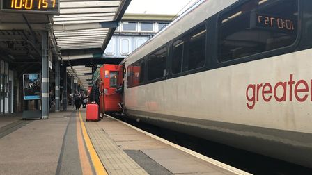 Trains travelling through Chelmsford are being affected by disruptive passengers on an earlier train