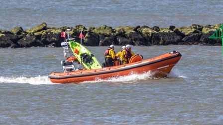 Two kayakers were rescued off the coast of Clacton. Picture: PETE INMAN