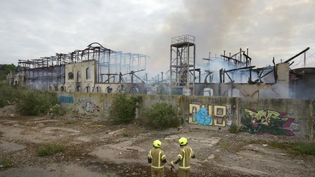 New footage has shown the former Fisons factory site in Paper Mill Lane weeks before the fire took h