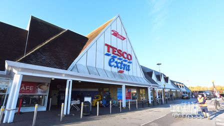 Tesco at Copdock is one of the big supermarkets which will be open on bank holiday Monday. Picture: