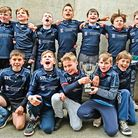 Woodbridge Rugby Club's Under 10 side won the Prima Cup Bowl at Welford Road. Picture: SIMON BALLARD