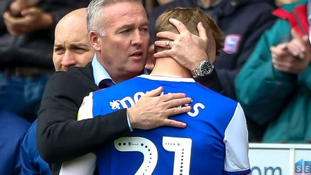 Flynn Downes has revealed that manager Paul Lambert has made Town's promotion goal clear. Picture