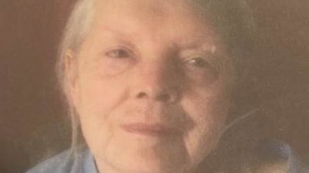 Constance Williams, 85, from Newmarket, has been reported as missing. Picture: COURTESY OF SUFFOLK C