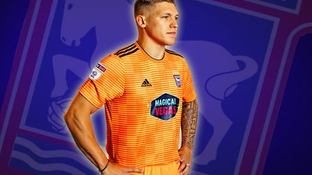 Martyn Waghorn modelled the new Ipswich Town away kit last summer. Photo: Archant