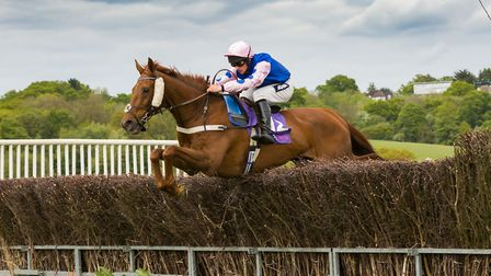 Alex Chadwick and Net D'Ecosse clear a fence on the way to victory at Northaw. Picture: GRAHAM BISHO