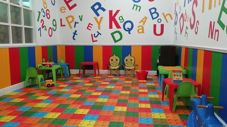 The play area at Hearts Delight Garden Cafe