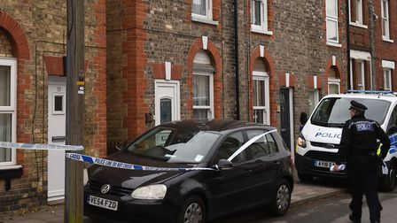 Police at the scene in Park Avenue in Newmarket Picture: JOE GIDDENS/PA WIRE