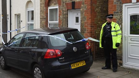 The woman found in Park Avenue, Newmarket, is 28 years old, and the child was aged four Picture: JOE