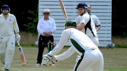 Batsman Mark Burch, who scored 51 of Ipswich's whole total of 81 all out in a defeat to Halstead. Pi