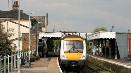Greater Anglia train at Woodbridge station on the East Suffolk Line. Picture: PAUL GEATER