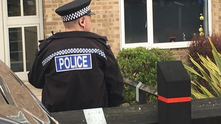 Officers were called shortly before 1.10am with reports of stabbing in Buffett Way Picture: ARCHANT