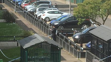 Police were called to the scene of a stabbing in Buffet Way, Greenstead, Colchester Picture: SIMON D