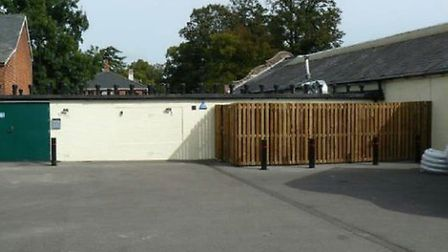 The current refridgeration units are enclosed by a timber fence Picture: SHARPS REDMORE