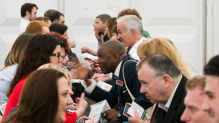 Speed networking at Anglian Business Exhibition Picture: KEITH MINDHAM