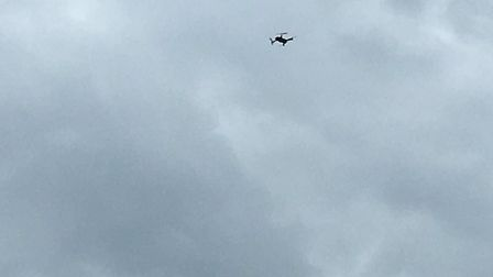 A police drone is circling overhead following reports of a stabbing in Colchester Picture: SIMON DAV