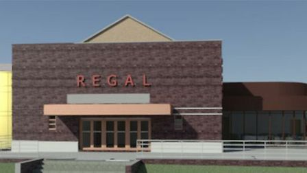 A CGI image of how the new Regal Theatre in Stowmarket could look, as part of seven-figure sum plans
