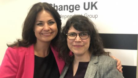 Change UK will be contesting its first election. Party leader Heidi Allen is pictured with lead cand