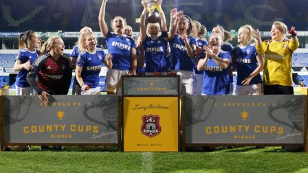 Ipswich Town Women lift the Suffolk Women's Cup for the fifth straight season after beating Needham