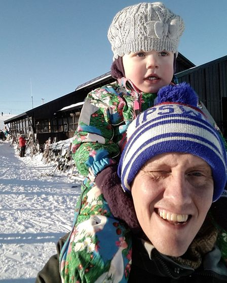 Ipswich fan Gunnar Sigurðason from Iceland hopes to move his family to Ipswich. Picture: Gunnar Sigu
