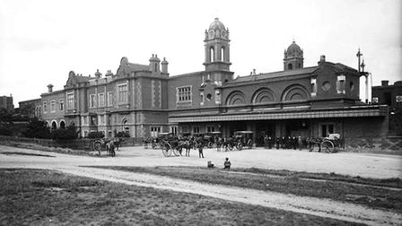 Bury St Edmunds station in the late 1890s Picture: GREATER ANGLIA