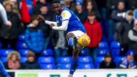 Toto Nsiala has started 16 games in his debut season at Ipswich Town - including the last five. Phot
