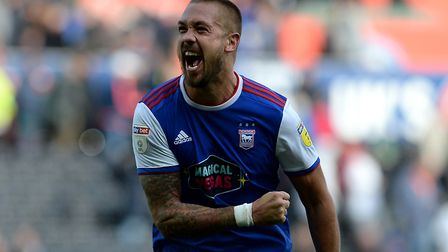 Luke Chambers is shelving his celebratory fist-pumps until a time Ipswich's form deserves them. Pict