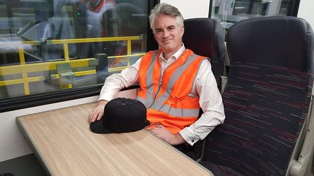 James Cartlidge saw the new trains at Crown Point depot in Norwich, Picture: Office of JAMES CARTLID