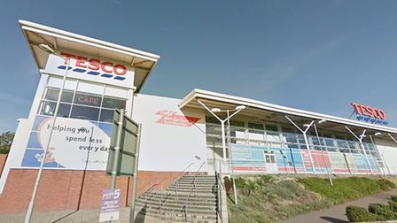 What appeared to be a knife-point robbery outside the Cangle Road Tesco in Haverhill was reported to