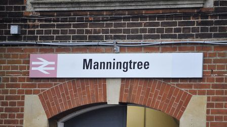 Manningtree railway station, in Station Road, Manningtree. A man in his 40s approached a teenage gir