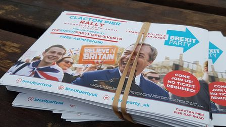 Nigel Farage attracted people to the Brexit Party rally in Clacton. Picture: RACHEL EDGE