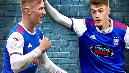 Flynn Downes and Jack Lankester are a big part of Ipswich Town's future. Picture: STEVE WALLER