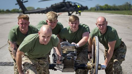 The Army engineers based at Wattisham are gunning to beat Navy at their own game. Picture: MoD CROWN