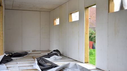 The unfinished property in east Suffolk Picture: JAMIE HONEYWOOD
