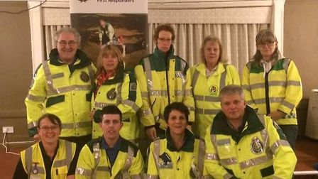 The Sudbury Community First Responders. Picture: SUDBURY COMMUNITY FIRST RESPONDERS