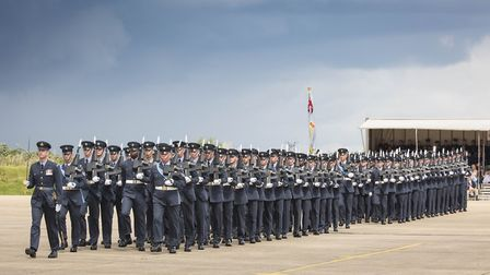 Personnel from RAF Honington will parade through the streets of Thetford on June 9 Picture: SAC Will