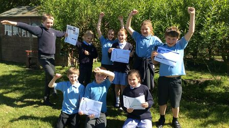 Pupils have been celebrating after reaching the Maths in Motion world final Picture: GEMMA CANNON