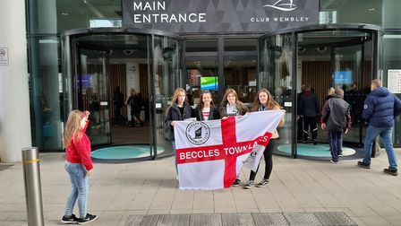 Youngsters from Beccles headed down to see the Fa Cup Final Picture: ALAN RUNNACLES