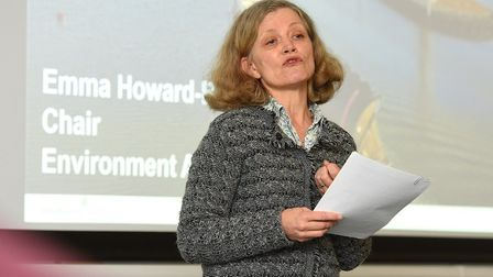 Environment Agency Chair Emma Howard Boyd at Ipswich. Picture: ENVIRONMENT AGENCY