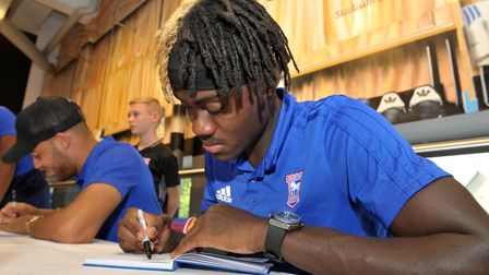 Trevoh Chalobah signing autographs Picture: SARAH LUCY BROWN