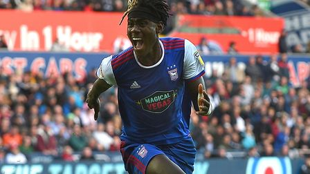 Trevoh Chalobah celebrates his winner at Swansea City Picture Pagepix