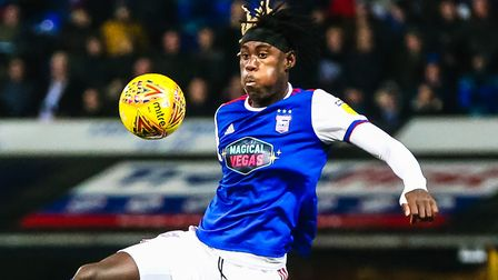 Trevoh Chalobah in action in the Ipswich Town in action against West Brom. PICTURE: STEVE WALLER