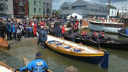 The boat is one of the fist vessels to be built and launched in Woodbridge fro 29 years Picture: MAL