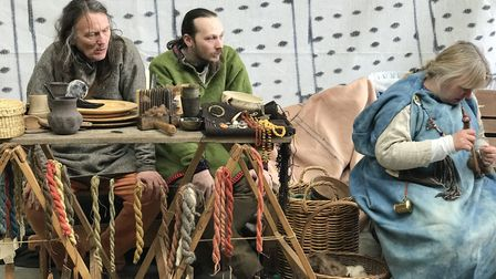 A taste from history as participants on the Beowulf weekend showcased their craft alongside the boat