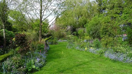Part of the one-acre garden at The Laburnums, St James South Elmham Picture: JANE BASTOW