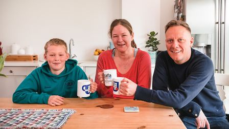 Mandy and Jamie Small with Coronation Street actor Antony Cotton. They have made a short film with h