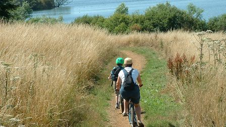 Alton Water is a great place to cycle round Picture: Anglian Water