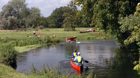 You can swim, canoe and kayak at Outney Common Picture: Owen Hines