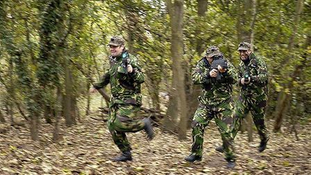 Battlefield Live East Anglia players in combat mode Picture: CONTRIBUTED