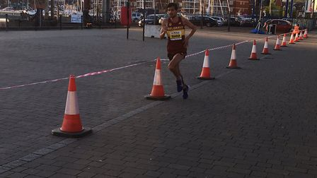 Nick Goolab is out on in his own as he successfully defends his Ipswich Twilight 5K crown last night
