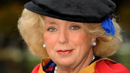 Kirsten Rausing pictured at Trinity Park to receive her Honorary Degree from UCSPicture ARCHANT